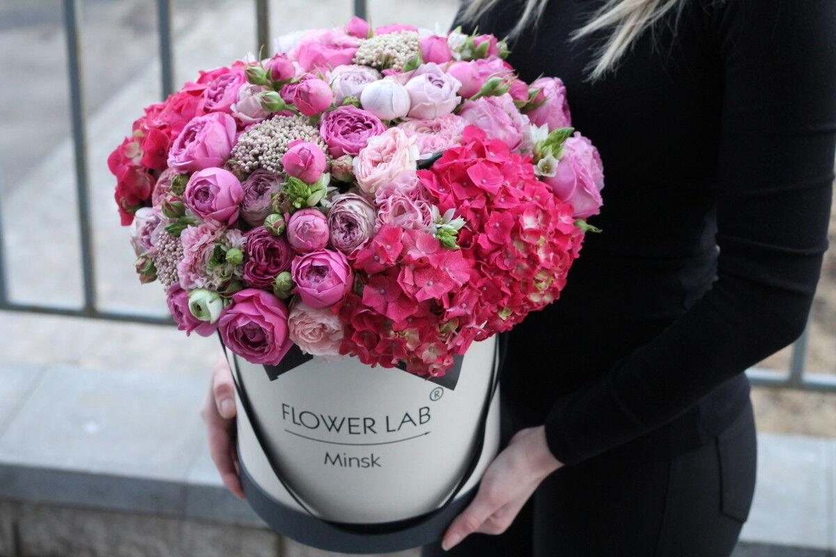 Магазин цветов Cvetok.by Композиция «Малиновый поцелуй» - фото 2