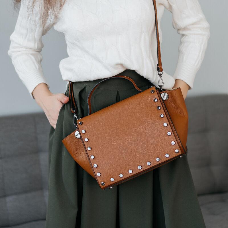 Магазин сумок Vezze Кожаная женская сумка C00557 - фото 1