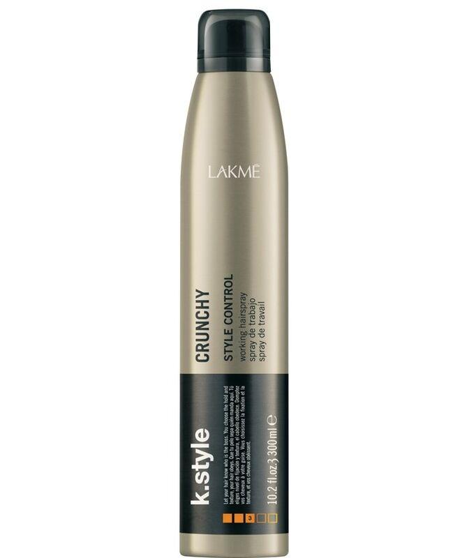 Уход за волосами Lakme Лак для волос сильной и эластичной фиксации K.Style Crunchy style control Working Hairpray - фото 1