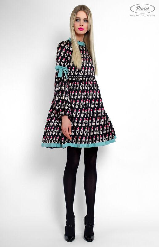 Платье женское Pintel™ Мини-платье свободного силуэта Berenitaä - фото 1