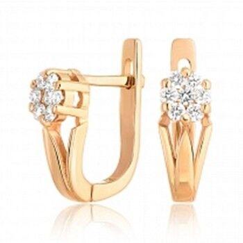 Ювелирный салон Jeweller Karat Серьги золотые с бриллиантами арт. 1222978/1 - фото 1