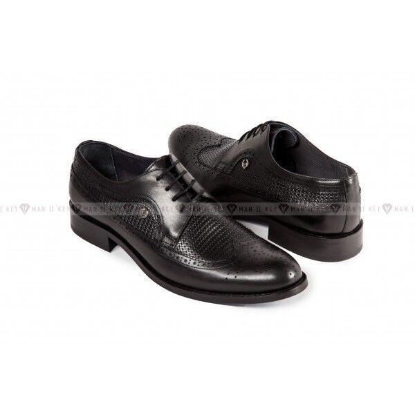 Обувь мужская Keyman Туфли мужские дерби броги черные - фото 1