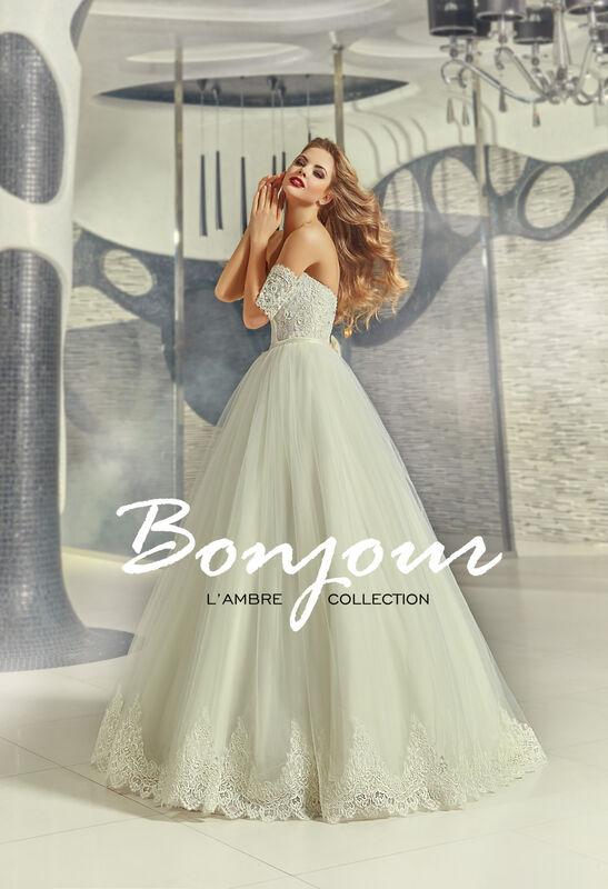 Свадебное платье напрокат Bonjour Платье свадебное «Gvennit» из коллекции LAMBRE 2017 - фото 1