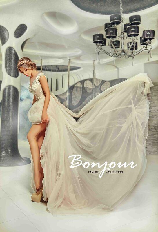 Свадебное платье напрокат Bonjour Платье свадебное «Martina» из коллекции LAMBRE 2017 - фото 5