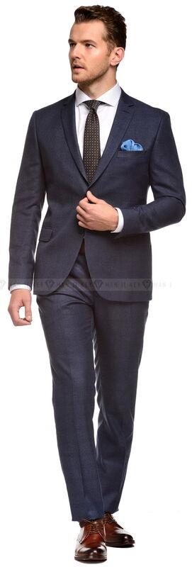 Костюм мужской Keyman Костюм мужской синий в клетку в цвет костюма - фото 2