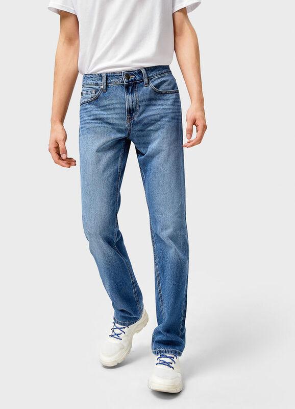 Брюки мужские O'stin Базовые мужские прямые джинсы MPD101-D5 - фото 1
