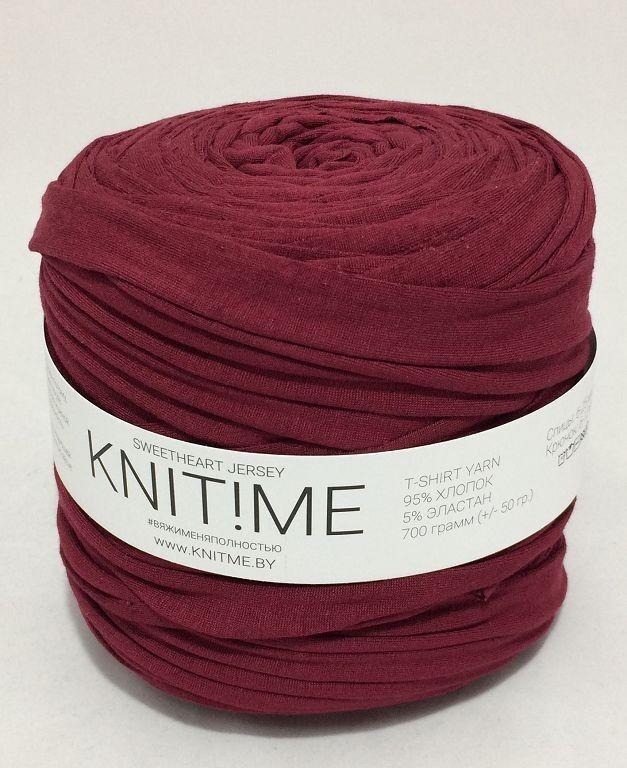 Товар для рукоделия Knit!Me Ленточная пряжа Sweetheart Jersey - Бордо (SJ088) - фото 1