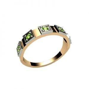 Ювелирный салон jstudio Золотое кольцо с различными вставками 10236 - фото 1