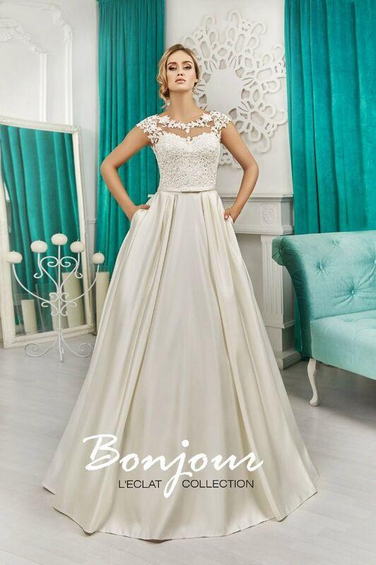 Свадебное платье напрокат Bonjour Платье свадебное «Nency» из коллекции L'ECLAT 2016 - фото 1