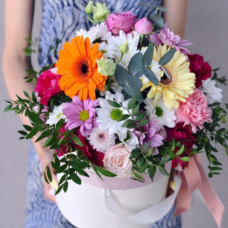 Магазин цветов Кошык кветак Коробочка классическая №7 - фото 1