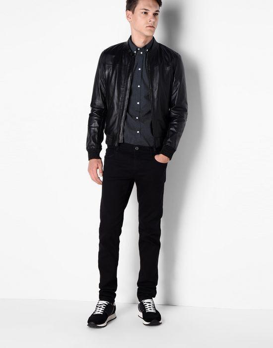 Верхняя одежда мужская Trussardi Кожаная куртка-бомбер мужская 52S09 _510070 - фото 5