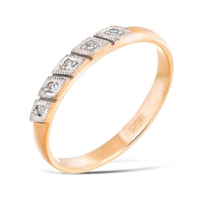 Ювелирный салон Jeweller Karat Кольцо обручальное с бриллиантами арт. 1211409/5 - фото 1