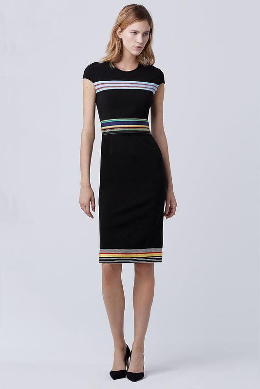 Платье женское Diane von Furstenberg Платье женское в полоску - фото 2