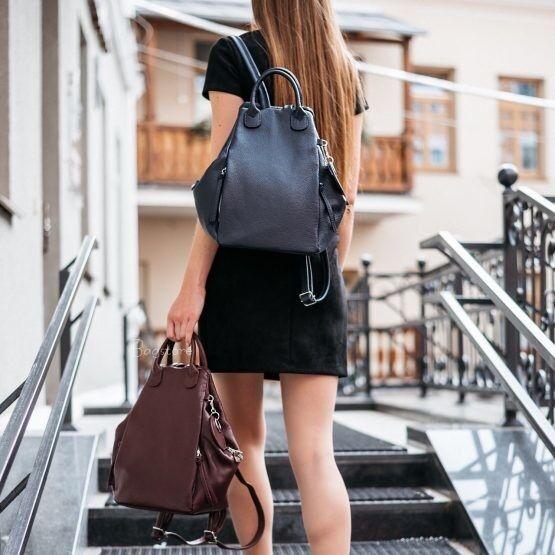 Магазин сумок Vezze Кожаный женский рюкзак C00527 - фото 1