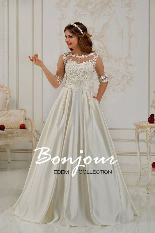 Свадебное платье напрокат Bonjour Платье свадебное «Elsa 1» из коллекции EDEM L'ECLAT 2016 - фото 1