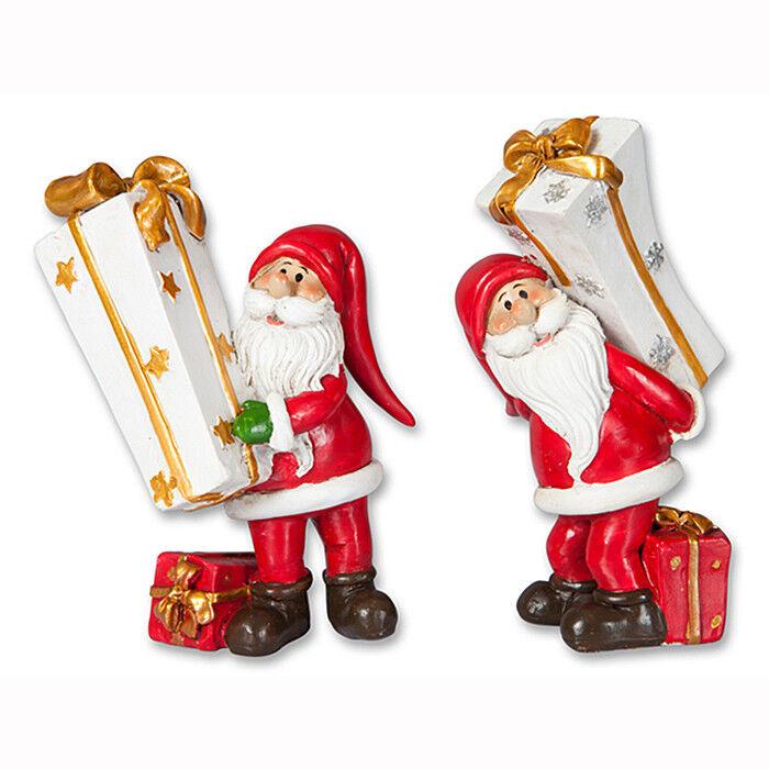 Подарок на Новый год mb déco Статуэтка новогодняя «Санта с подарком» 59101/AMS в ассортименте - фото 1