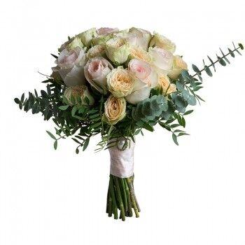 Магазин цветов Ветка сакуры Свадебный букет № 97 - фото 1