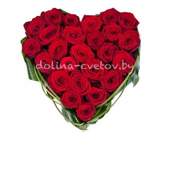 """Магазин цветов Долина цветов Цветочная композиция """"Сердце любви"""" - фото 1"""
