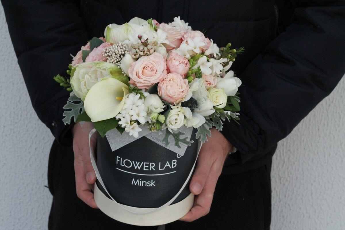 Магазин цветов Cvetok.by Композиция «Калла и гиацинт» - фото 1
