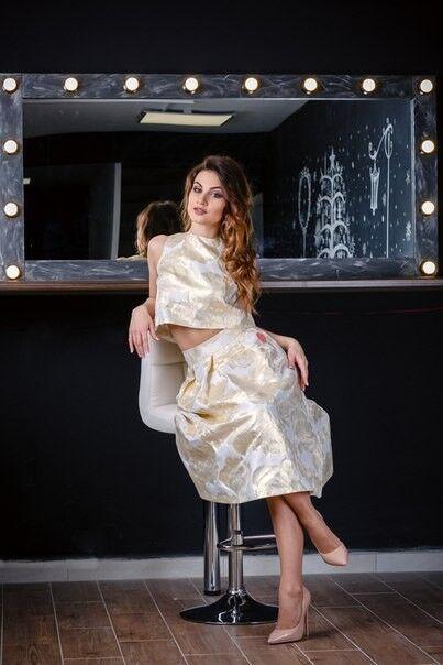Вечернее платье Chi Chi Золотой матовый комплект - фото 3