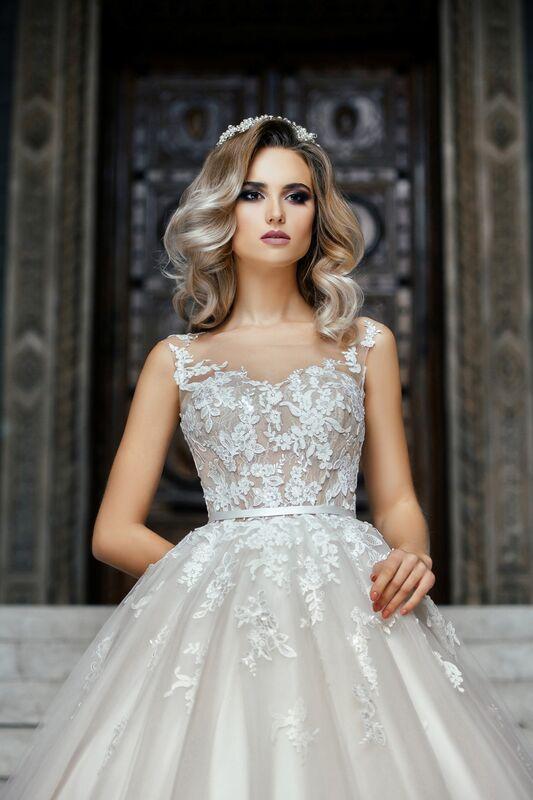 Свадебное платье напрокат Nicole Платье свадебное Adele - фото 2