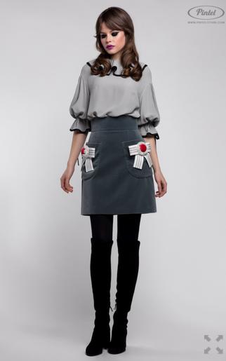 Костюм женский Pintel™ Комплект из блузы и юбки Venla - фото 2