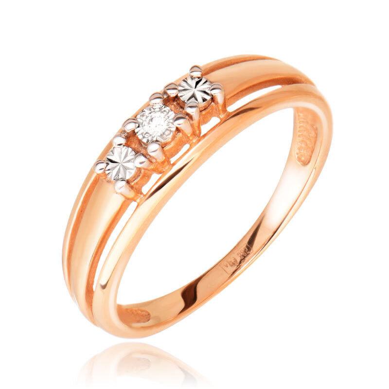 Ювелирный салон Jeweller Karat Кольцо золотое с бриллиантами арт. 3214002/9 - фото 1