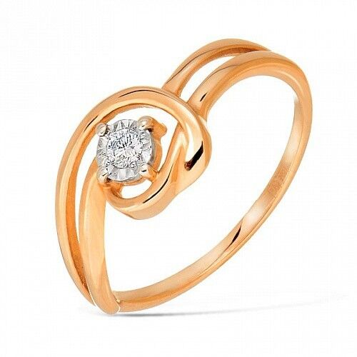Ювелирный салон Jeweller Karat Кольцо золотое с бриллиантами арт. 3212909/9 - фото 1