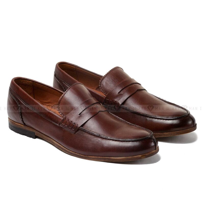 Обувь мужская Keyman Туфли мужские лоферы коричневые - фото 1