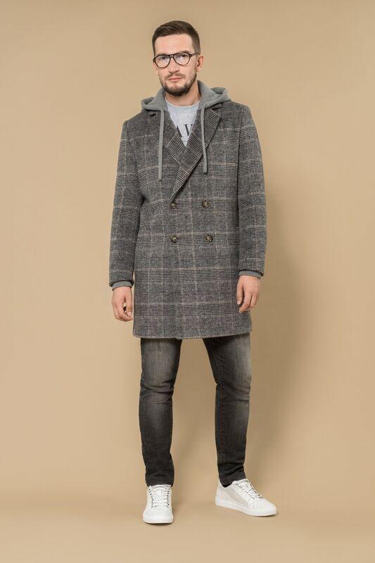 Верхняя одежда мужская Etelier Пальто мужское демисезонное 1М-8869-1 - фото 2