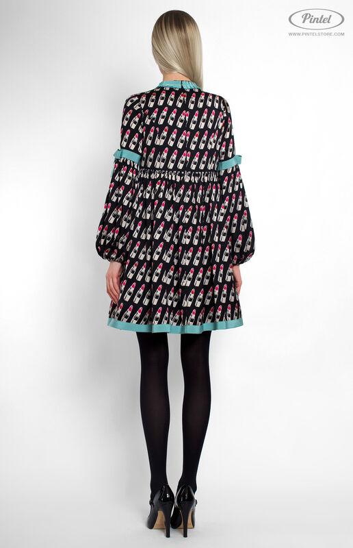 Платье женское Pintel™ Мини-платье свободного силуэта Berenitaä - фото 3
