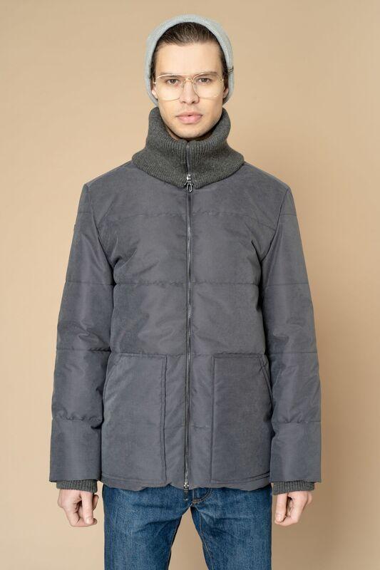 Верхняя одежда мужская Etelier Куртка мужская плащевая утепленная 4М-8523-1 - фото 7