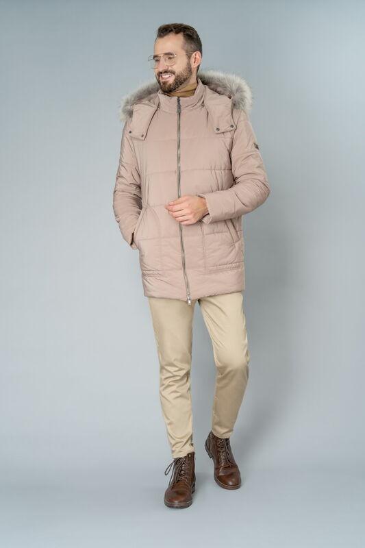 Верхняя одежда мужская Etelier Куртка мужская плащевая утепленная 4М-8628-1 - фото 1