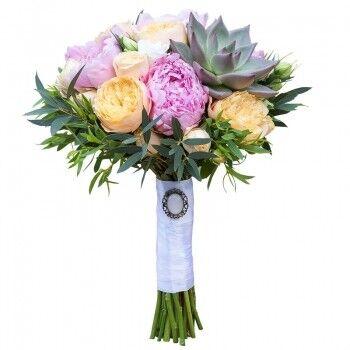 Магазин цветов Ветка сакуры Свадебный букет № 123 - фото 1