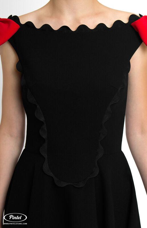 Платье женское Pintel™ Чёрное приталенное мини-платье без рукавов Astrid - фото 3