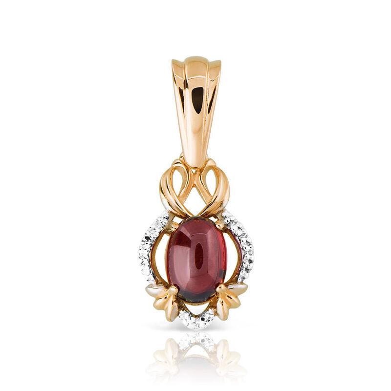 Ювелирный салон Jeweller Karat Подвеска золотая с бриллиантами и гранатом арт. 1235059 - фото 1