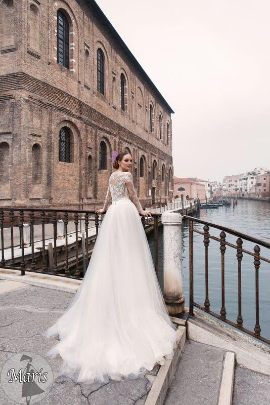 Свадебное платье напрокат Bonjour Платье свадебное «Maris» из коллекции LE DELICE 2018 - фото 4