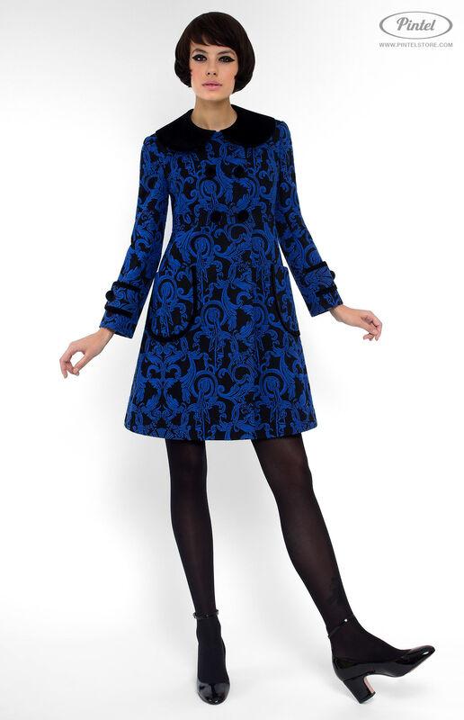 Верхняя одежда женская Pintel™ Двубортное жаккардовое мини-пальто Vania - фото 2