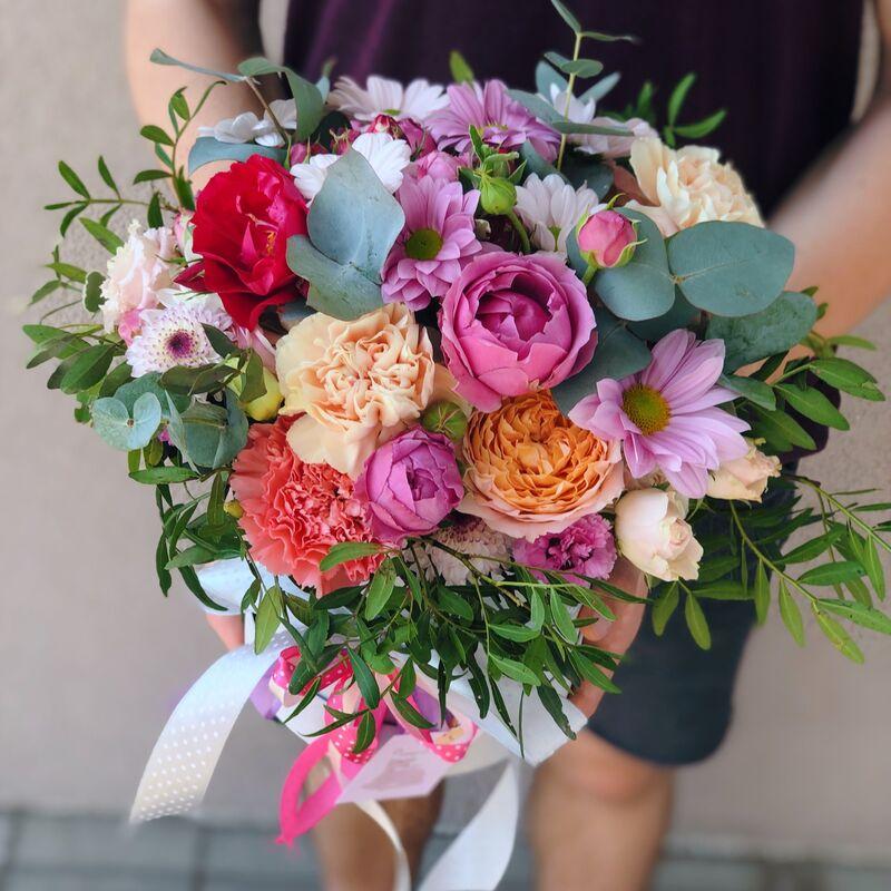 Магазин цветов Кошык кветак Коробочка классическая №8 - фото 1
