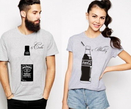 Подарок Maika.by Парные футболки «Виски & Кола», комплект - фото 1