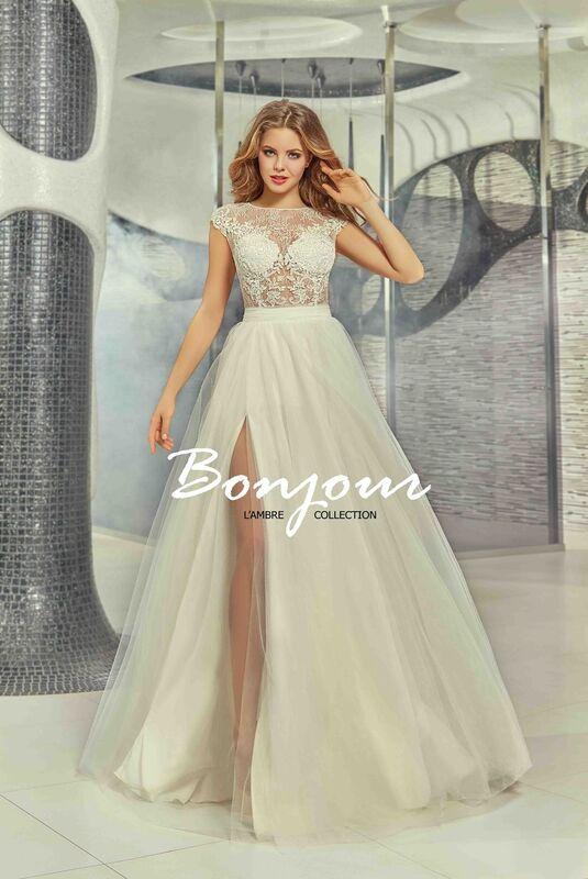 Свадебное платье напрокат Bonjour Платье свадебное «Mei» из коллекции LAMBRE 2017 - фото 1