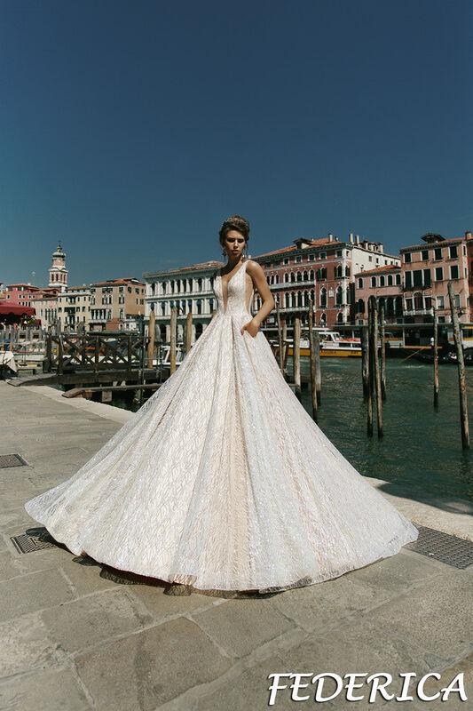 Свадебный салон Bonjour Galerie Свадебное платье Federica из коллекции La Douceur - фото 1