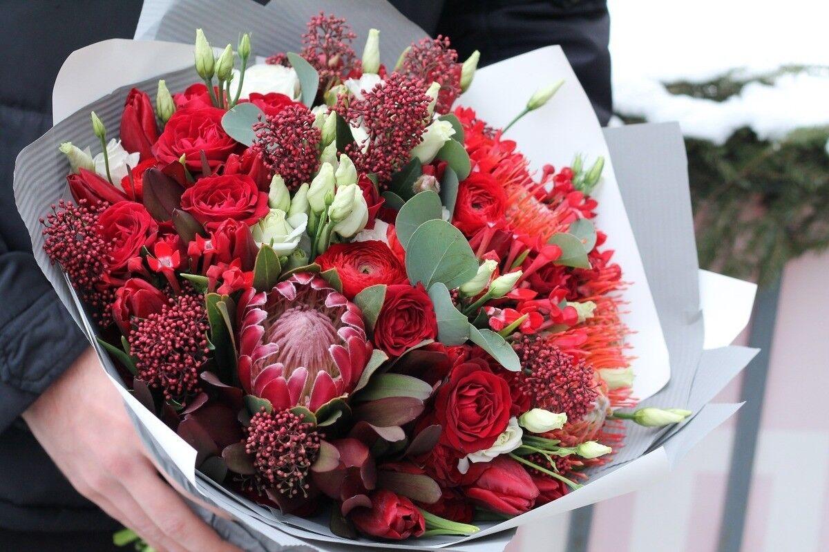 Магазин цветов Cvetok.by Букет «Алый закат» - фото 1