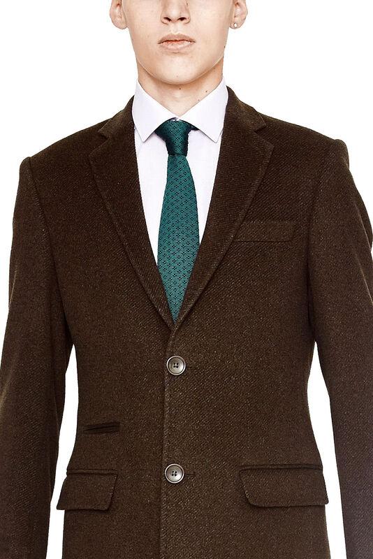 Верхняя одежда мужская HISTORIA Пальто мужское коричневое H01 - фото 3