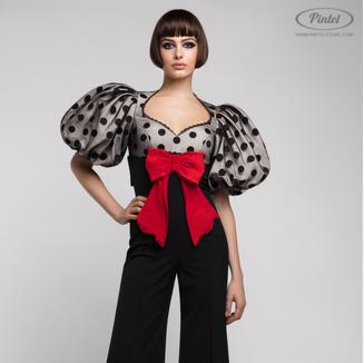 Брюки женские Pintel™ Комбинированный облегающий комбинезон Rabbani - фото 1