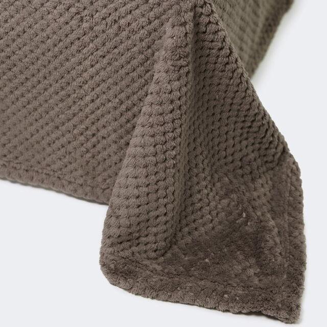 Подарок Ecotex Декоративный флисовый плед 200х220 Elegance Коричневый - фото 1