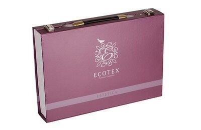 Подарок Ecotex Элитный комплект постельного белья Виктория Эстетика - фото 2