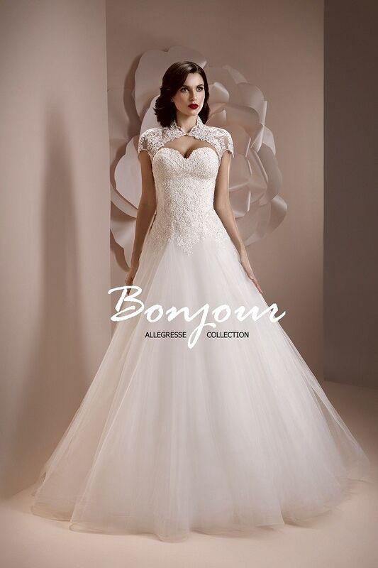 Свадебное платье напрокат Bonjour Платье свадебное «Alexis» из коллекции ALLEGRESSE 2017 - фото 2