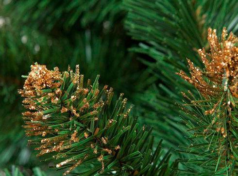 Елка и украшение GreenTerra Сосна «Люкс» с золотистыми кончиками, 1.0 м - фото 2