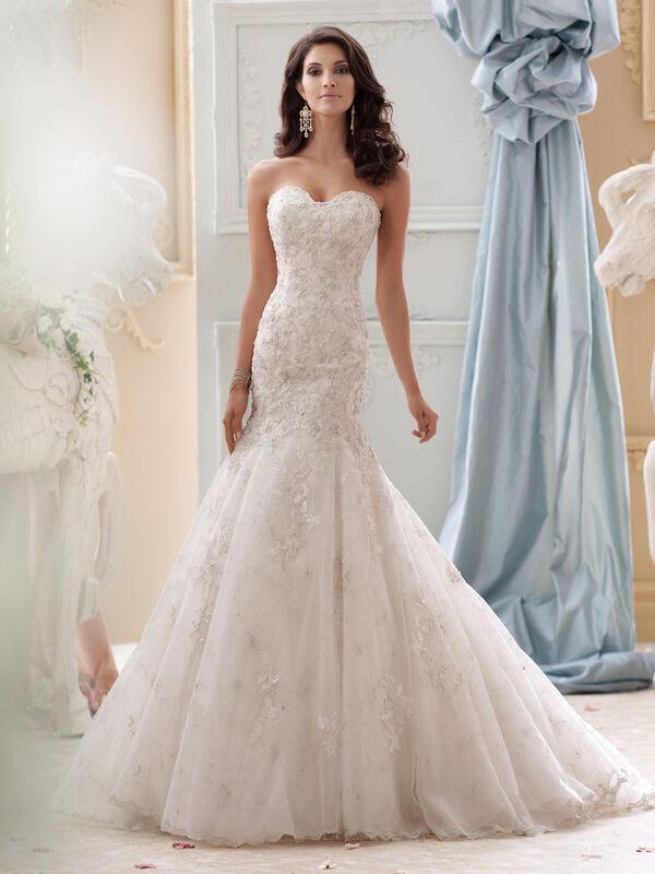 Свадебное платье напрокат David Tutera Платье свадебное 115232 Gia - фото 1